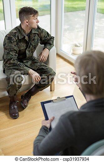 militar, homem, uniforme - csp31937934