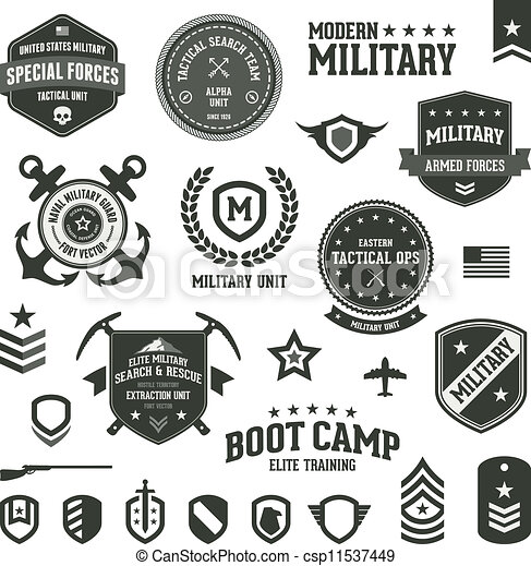 militar, insignias - csp11537449