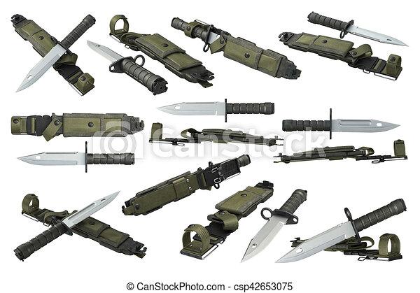 75781fa7ca Militar, jogo, faca, exército. Exército, set., lâmina, cobertura ...