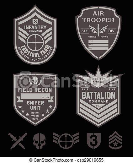 militar, jogo, forças especiais, remendo - csp29019655