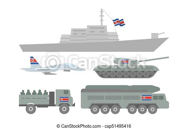 Ilustración de maquinaria militar - csp51495416