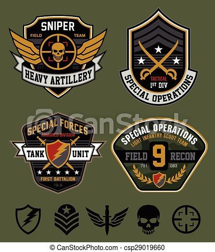 militar, ops, jogo, especiais, remendo - csp29019660
