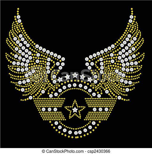 militar, símbolo, ilustraciones - csp2430366