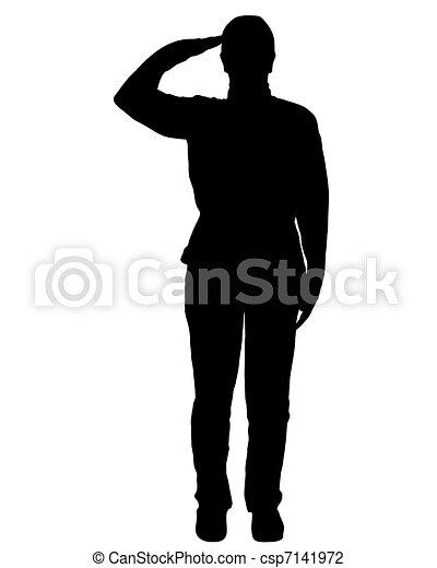 militar, saudação - csp7141972