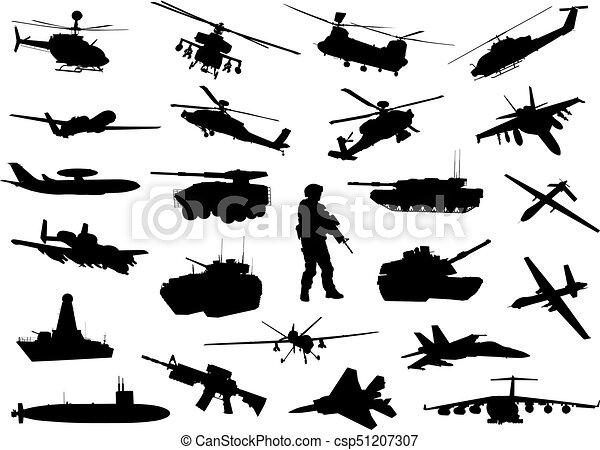 militar, silhuetas - csp51207307