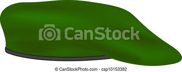 a74aeb020f Militar, verde, boina. Boina, isolado, experiência verde, militar ...