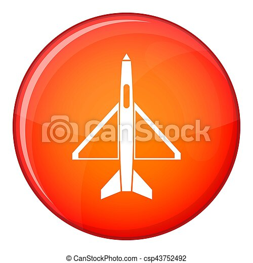 Military aircraft icon, flat style - csp43752492