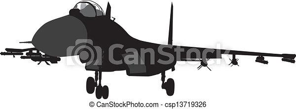 Military aircraft - csp13719326