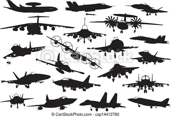 Military aircrafts set - csp14412760