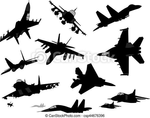 Military aircrafts set - csp44676396