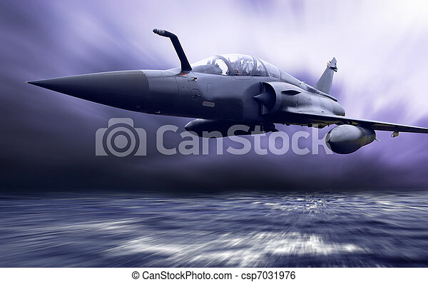 Military airplan on the speed - csp7031976