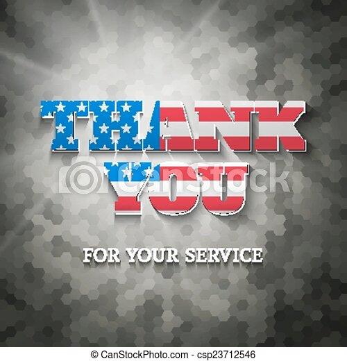 Military appreciation sign - csp23712546