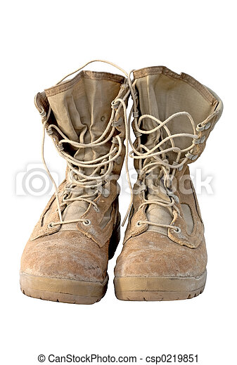 Military- Army Boots - csp0219851