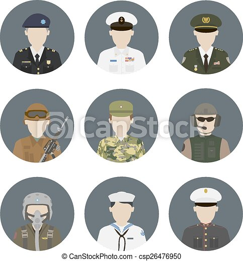 Military avatars - csp26476950