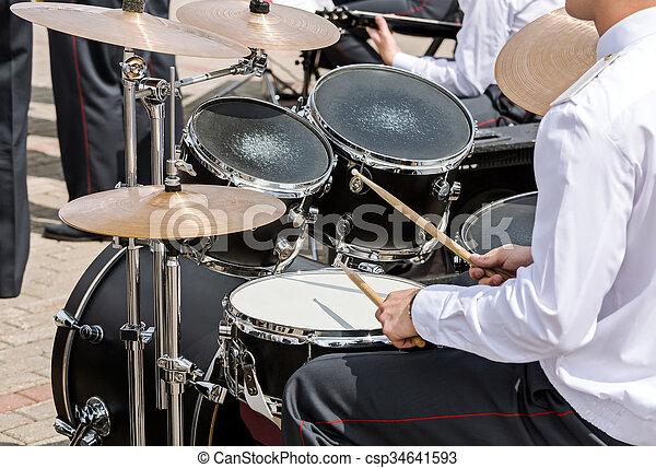 military band drummer - csp34641593