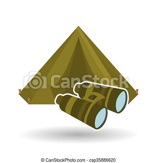 Military binoculars design , vector illustration - csp35886620
