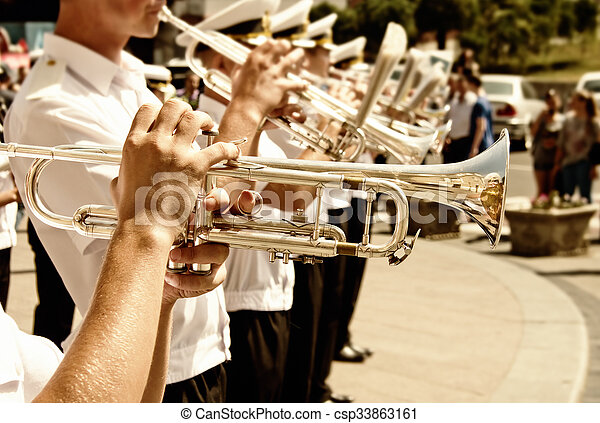 Military brass band - csp33863161