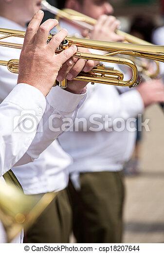 Military brass band - csp18207644