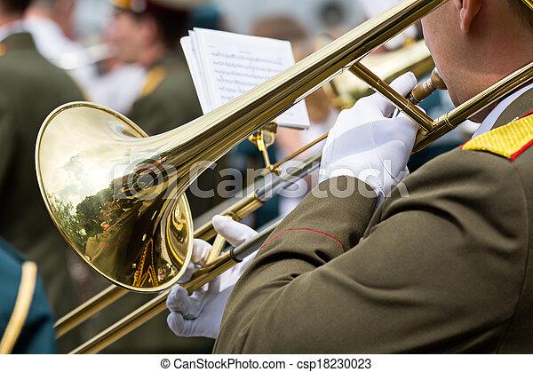 Military brass band - csp18230023