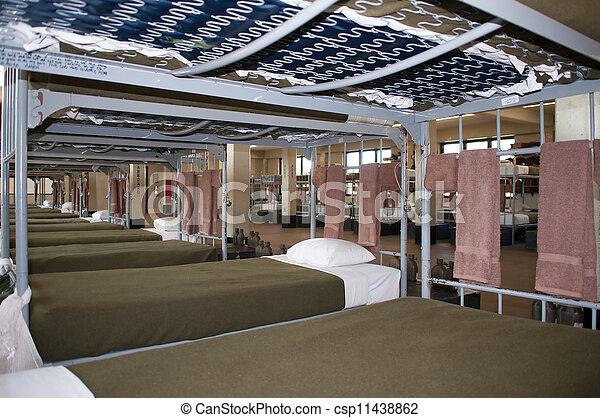 military bunk beds - csp11438862