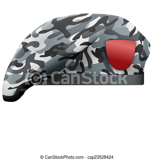 e4601b2b496c03 Military camo beret special forces. Military beret with camo texture ...