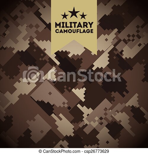 military camouflage  - csp26773629
