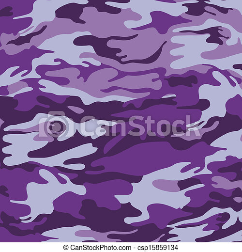 Military camouflage purple background - csp15859134