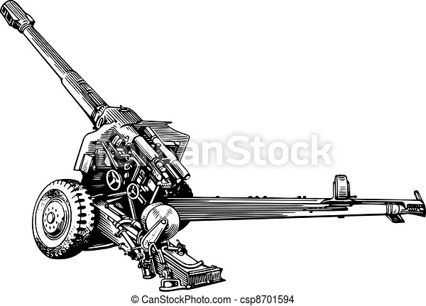 Military cannon - csp8701594