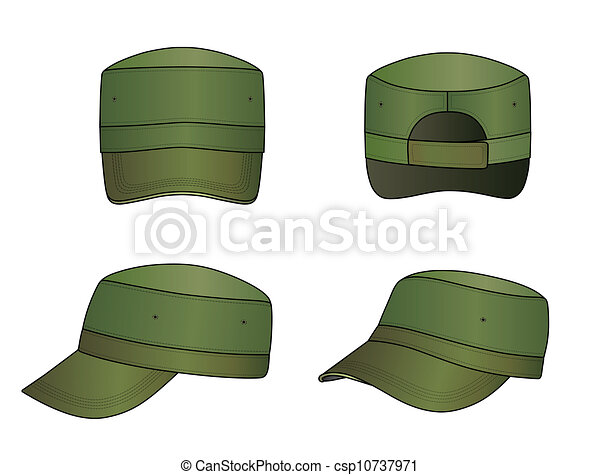 Navy Hat Clipart Military cap . Green m...