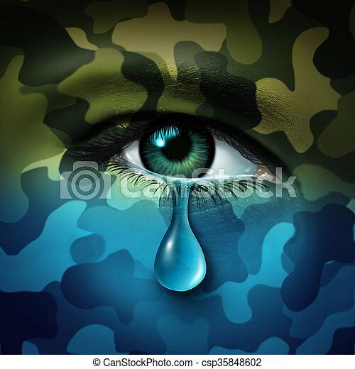 Military Depression - csp35848602