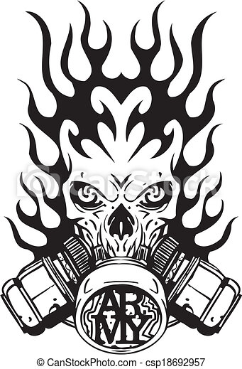 Military Design - vinyl-ready vector illustration. - csp18692957