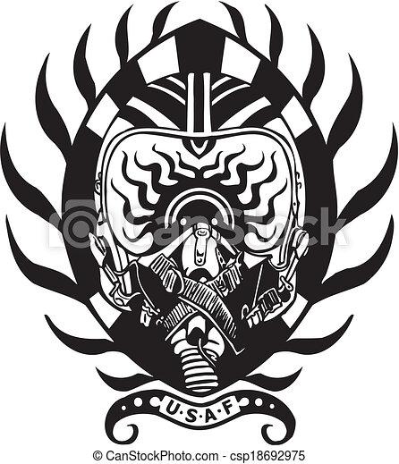 Military Design - vinyl-ready vector illustration. - csp18692975