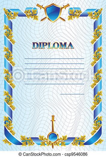 military diploma - csp9546086