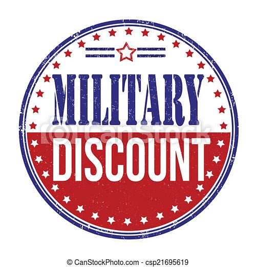 Military discount stamp - csp21695619