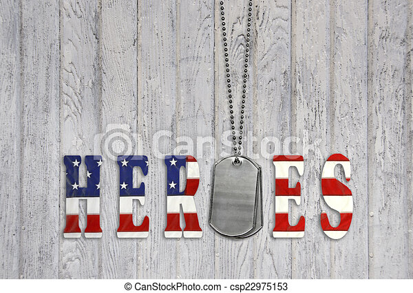 military dog tags for heroes - csp22975153