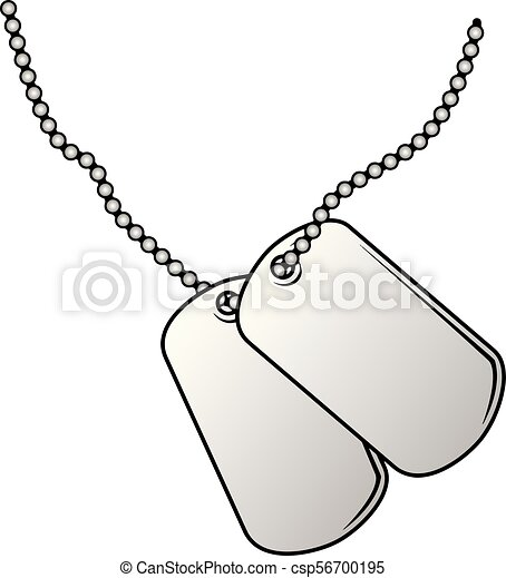 military dog tags vector illustration blank military style eps rh canstockphoto com dog tag chain clipart dog bone tag clip art