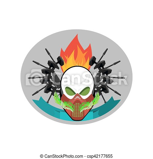 military emblem paintball logo army sign skull in clipart rh canstockphoto ca paintball logo maker paintball logo creator