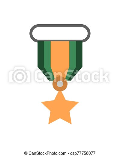 military force medal isolated icon - csp77758077