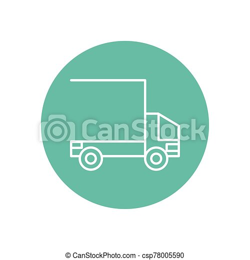 military force truck isolated icon - csp78005590