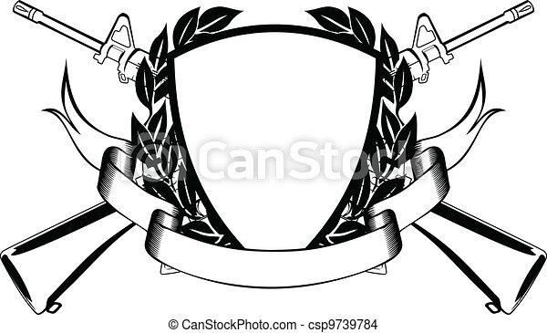 military frame - csp9739784