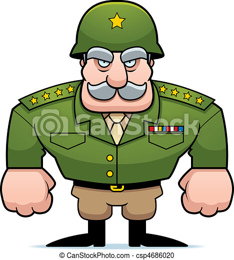 a cartoon military general with a helmet on vector clipart search rh canstockphoto com