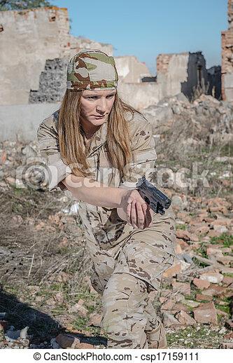 Military girl - csp17159111