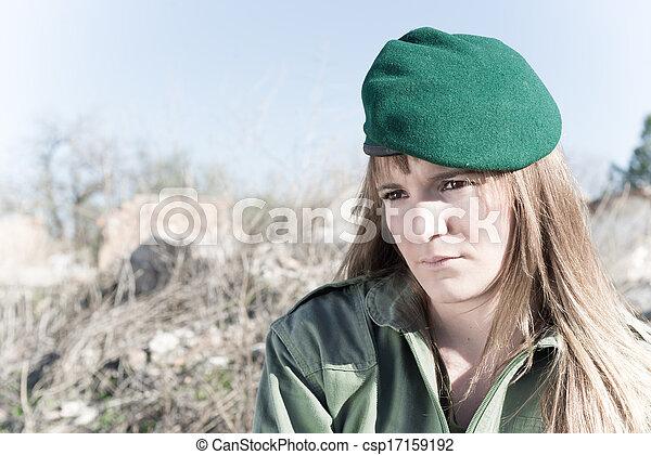 Military girl - csp17159192