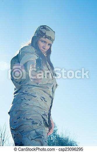 Military girl - csp23096295