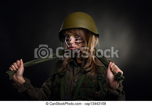 military girl - csp13443109