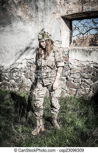 Military girl - csp23096309