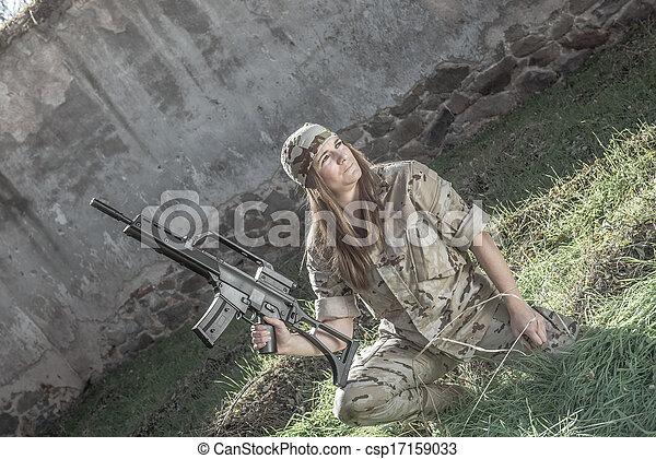 Military girl - csp17159033