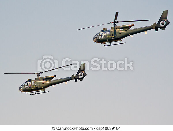 military helicopter in flight - csp10839184