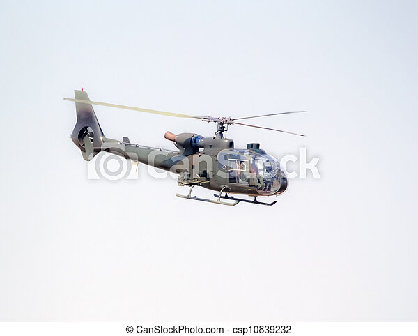 military helicopter in flight - csp10839232
