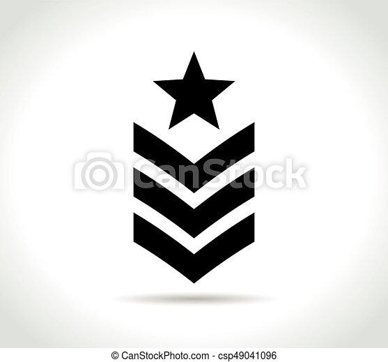military icon on white background - csp49041096